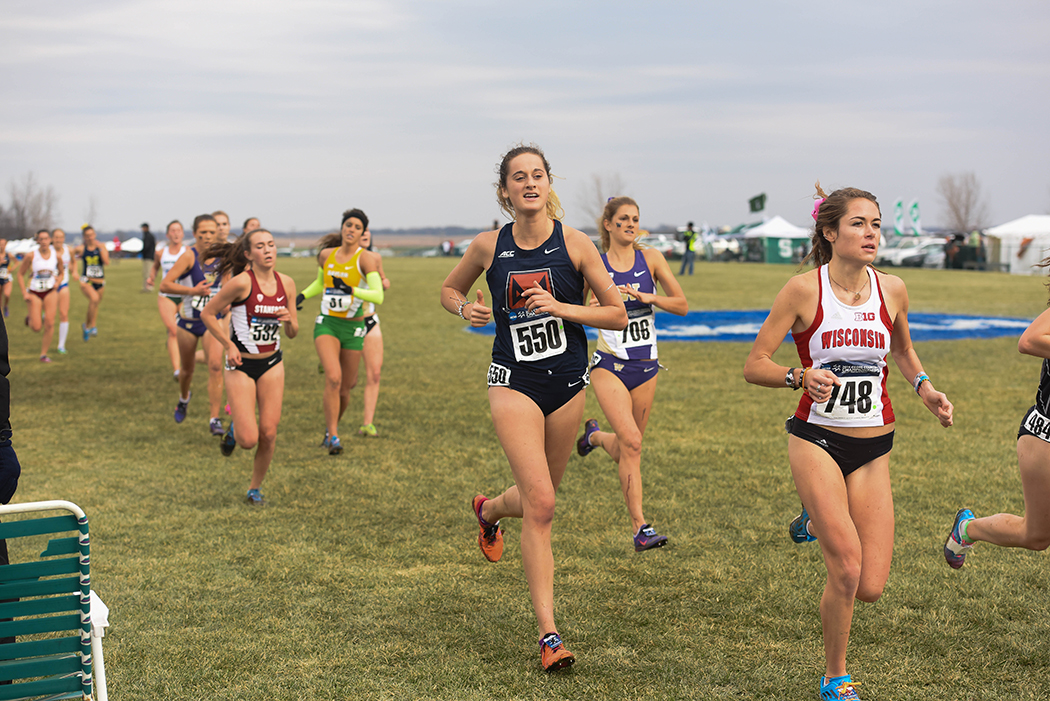 Syracuse University Womens Cross Country finished 24th overall at the 2014 NCAA Division I Cross Country Championships at the LaVern Gibson Championship Cross Country Course in Terre Haute, Ind. on Saturday, November 22, 2014. Photo by Lucas Carter / Syracuse University.